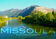 Teshia Art Acrylic Prints - A River Runs Through It Missoula Montana Acrylic Print by Teshia Art