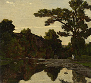 Famous Artists - A River Scene by Henri-Joseph Harpignies