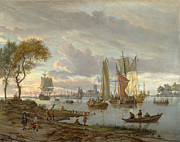 Famous Artists - A River View by Abraham Storck