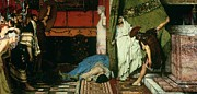 Historic Statue Painting Prints - A Roman Emperor   Claudius Print by Sir Lawrence Alma Tadema