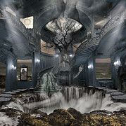 Photo-manipulation Photo Posters - A Room within my Mind Poster by Keith Kapple