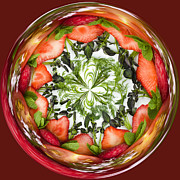 Watercress Photos - A Round of Fresh Fruit Salad by Anne Gilbert
