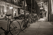 John McGraw - A Row of Bikes in New...