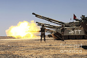 Military Training Prints - A Royal Jordanian Land Force Challenger Print by Stocktrek Images