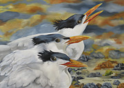 Waterfowl Paintings - A Royal Trio by Phyllis Beiser