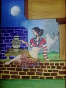 Syeda Ishrat Art - A Ruined City Girl Of Moen-Jo-Daro by Syeda Ishrat