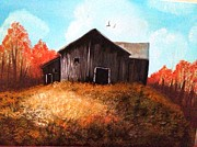 Dublin Painting Originals - A Rusty Barn in The Countryside by Bimi Felix