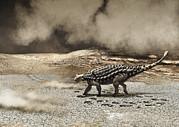 A Saichania Chulsanensis Dinosaur Print by Roman Garcia Mora
