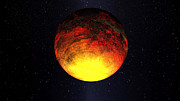Movie Poster Prints Posters - A Scorched World Kepler-10b  Poster by Movie Poster Prints