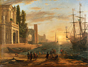 Famous Artists - A Seaport by Claude Lorrain