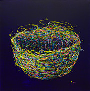 Multicolor Metal Prints - A Second Nest Metal Print by Songmi Park