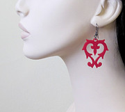 Perspex Jewellery Jewelry - A Secret Love - Romantic Floral Earrings by Rony Bank