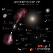 Elliptical Galaxy Posters - A Selection Of Galaxies Shown Poster by Rhys Taylor
