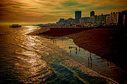 Sussex Digital Art Prints - A September Evening In Brighton Print by Chris Lord
