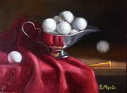 Golf Ball Painting Originals - A serving of golf balls... by Viktoria K Majestic