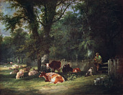A Shady Corner Print by William Snr. Shayer