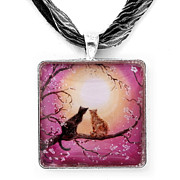 Landscapes Jewelry Originals - A Shared Moment Pendant by Laura Iverson