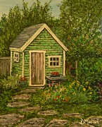 Shed Painting Posters - A Shed in Lunenburg Poster by Donna Muller