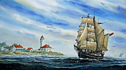 Nautical Greeting Card Prints - A Ship There Is Print by James Williamson