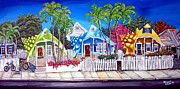 Key West Paintings - A Short Walk to Storytime by Abigail White
