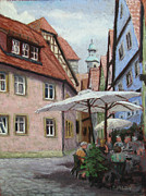 Europe Pastels - A Side Street by Sandra Sigley