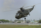 Featured Metal Prints - A Sikorsky S-61a4 Helicopter Metal Print by Remo Guidi
