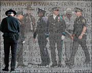 Police Officer Art - A Silent Prayer by Lydia Warner Miller