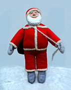 Cartoon Sculptures - A Simple Santa by David Wiles