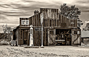 Car Repairs Prints - A Simpler Time 3 monochrome Print by Steve Harrington