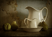 Ceramic Metal Prints - A Simpler Time Metal Print by Amy Weiss