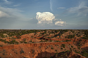Caprock Canyons State Park Posters - A Single Cloud Poster by Melany Sarafis