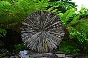 Slates Prints - A slate wheel sculpture Print by Joe Cashin
