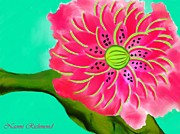 Believe Digital Art - A Slice of Watermelon Blossom by Naomi Richmond