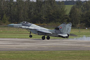 Hradec Posters - A Slovak Air Force Mig-29as Fulcrum Poster by Timm Ziegenthaler