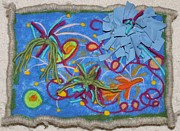 Marine Life Tapestries - Textiles Prints - A Small Fish in a Big Pond Print by Heather Hennick