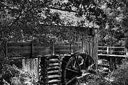 Grist Mills Framed Prints - A Smoky Mountain Mill  Framed Print by Mel Steinhauer