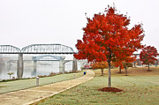 Draw Bridge Prints - A Soft Autumn Day Print by Tom and Pat Cory