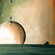 Outer Space Paintings - A Solar System by Cindy Thornton
