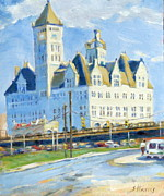 Nashville Architecture Paintings - A Soldiers Homecoming by Sandra Harris