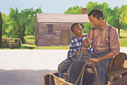 African American Paintings - A Sons Comfort by Colin Bootman