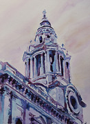 Saint Christopher Mixed Media - A Spire of Saint Pauls by Jenny Armitage