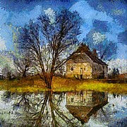 Rural Scenes Prints - A spring flood Print by Dragica  Micki Fortuna