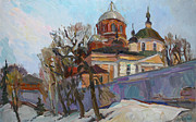 Orthodox  Painting Originals - A spring message by Juliya Zhukova