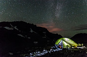 Tent Photos - A Starry Night  by Ian Stotesbury