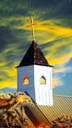 Crosswalk Digital Art - A steeple surrounded by the Glory by Beverly Guilliams