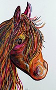 Pet Painting Originals - A Stick Horse Named Amber by Eloise Schneider