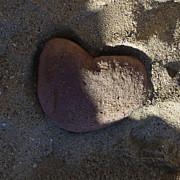 A Stone Heart Print by Xueling Zou