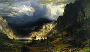 Famous Artists - A Storm in the Rocky Mountains Mt. Rosalie by Albert Bierstadt