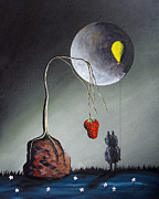 Surreal Landscape Painting Metal Prints - A Strange Dream by Shawna Erback Metal Print by Shawna Erback