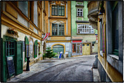 Cobblestone Prints - A Street in Vienna Print by Joan Carroll